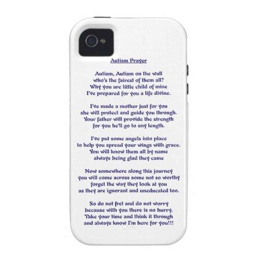 Rezo del autismo Case-Mate iPhone 4 carcasa