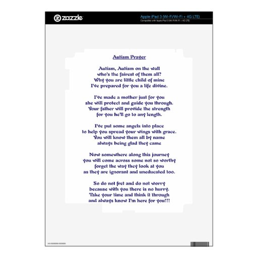 Rezo del autismo pegatina skin para iPad 3