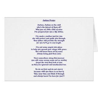 Rezo del autismo tarjeta de felicitación