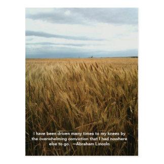 rezo del campo de trigo tarjeta postal