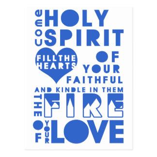 Rezo del Espíritu Santo Postales