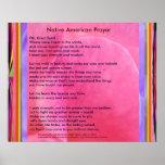 Rezo del nativo americano póster