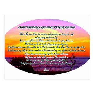 Rezo del padre de la buena mañana tarjeta postal