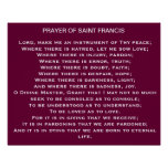 Rezo del poster de Francis* del santo