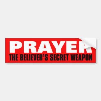 Rezo: El arma secreta del creyente Pegatina De Parachoque