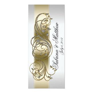 Rezo formal adornado de plata del programa del invitación personalizada