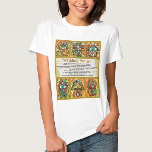 Rezo Hamsa de oro del boda judío Tshirt