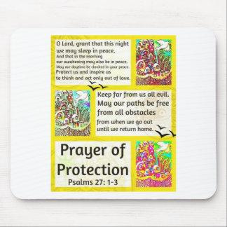 Rezo judío de la ciudad de la protección de Jerusa Tapetes De Ratones