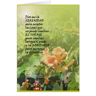 Rezo La Oración de la Serenidad de la serenidad Tarjeta De Felicitación
