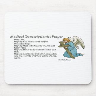 Rezo médico de la transcripción alfombrillas de raton