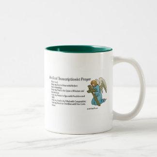 Rezo médico de la transcripción taza de café