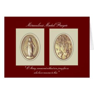 Rezo milagroso de la medalla tarjeta de felicitación