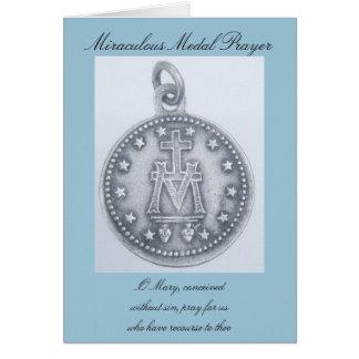 Rezo milagroso de la medalla tarjeta pequeña