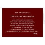 Rezo para la generosidad tarjetas