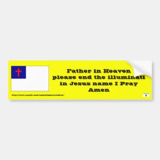 Rezo para terminar el illuminati etiqueta de parachoque