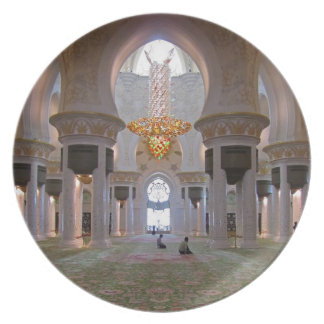 Rezo Pasillo 1 de jeque Zayed Grand Mosque Men's Plato De Comida