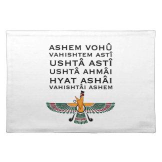 Rezo PlaceMats del Zoroastrian Mantel