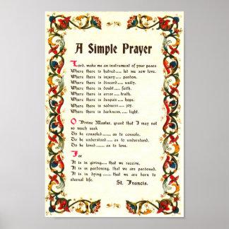 REZO SIMPLE de papa Francisco St Francis Posters