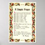 REZO SIMPLE de papa Francisco St Francis Póster