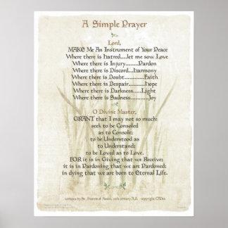 REZO SIMPLE de POPE= ST FRANCIS para el REZO de la Poster