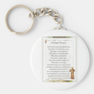 rezo simple de St Francis Llavero Redondo Tipo Pin