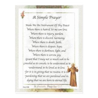 rezo simple de St Francis Postales