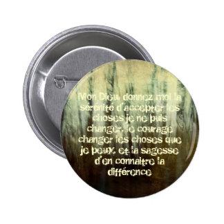 Rezo sucio de la serenidad en botón francés pin