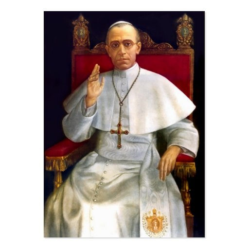 Rezo-tarjeta del papa Pío XII Tarjeta De Visita