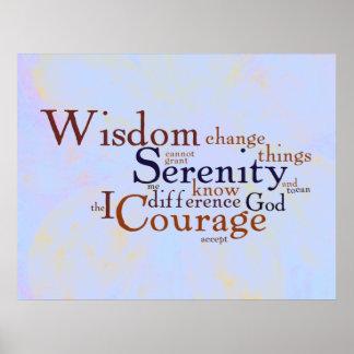 Rezo Wordle de la serenidad en extracto Póster
