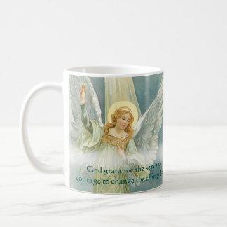 Rezo y ángel de la serenidad taza