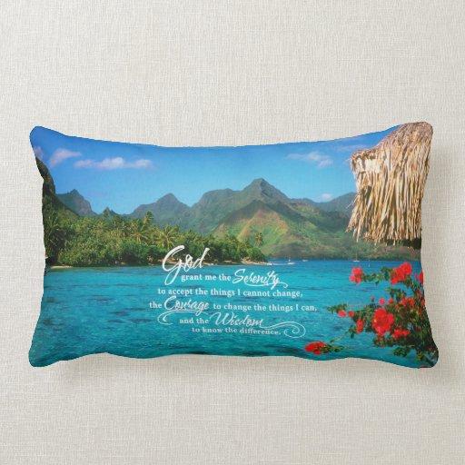 Rezo y Bora Bora de la serenidad Almohadas