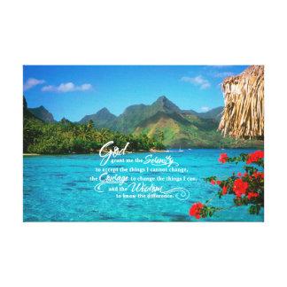 Rezo y Bora Bora de la serenidad Lona Estirada Galerias