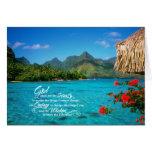 Rezo y Bora Bora de la serenidad Tarjeta De Felicitación