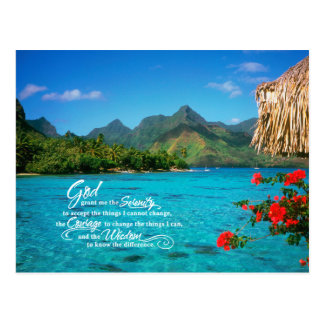 Rezo y Bora Bora de la serenidad Tarjetas Postales