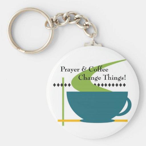 Rezo y llavero del café