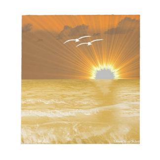 Rezo y puesta del sol de la serenidad bloc