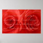 Rezo y rosas de la serenidad posters