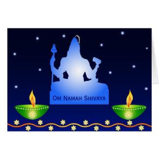 Rezos a señor Shiva - tarjeta
