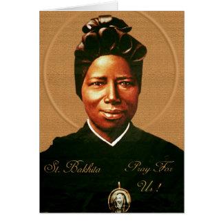 Rezos a St. Bakhita Tarjeta De Felicitación