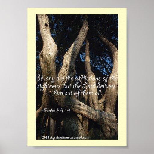 Rezos de la escritura de la biblia póster