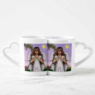 Rezos del ángel tazas para parejas