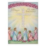 Rezos del cumpleaños de ángeles tarjetas