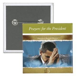 Rezos para el presidente pin cuadrada 5 cm