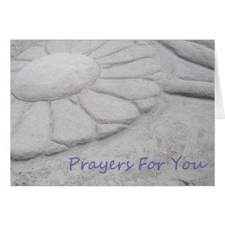 Rezos para usted - flor de la arena tarjeta de felicitación