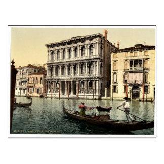 Rezzonico Palace, Venice, Italy classic Photochrom Postcard