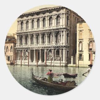 Rezzonico Palace, Venice, Italy classic Photochrom Stickers