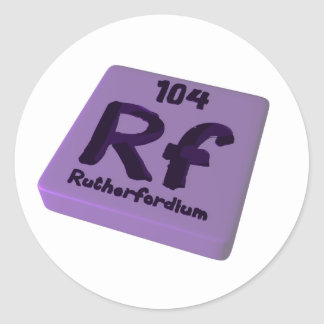Rf Rutherfordium Classic Round Sticker