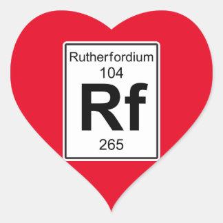 Rf - Rutherfordium Heart Sticker