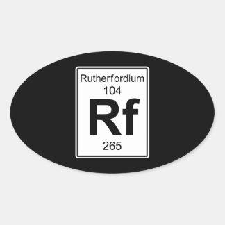 Rf - Rutherfordium Oval Sticker