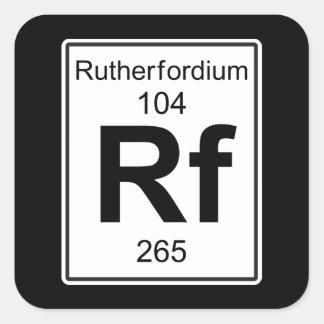 Rf - Rutherfordium Square Sticker